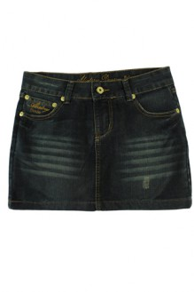 HUGO STORE - Saia Jeans Dark Wash